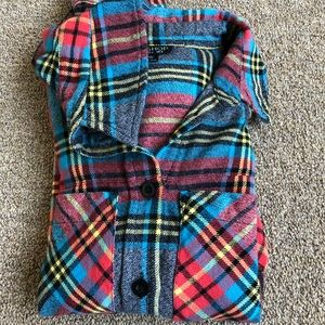 Topshop Plaid Top